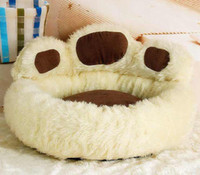 Wholesale New Paw Shape Pet Dog Cat Bed House Nest Warmer Soft Beds Sleep Plush Luxury House Gift quot V3687