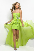 Reference Images china prom dresses - Dashing Sweetheart Beaded Green and Purple Chiffon Sheath Prom Dresses Made In China