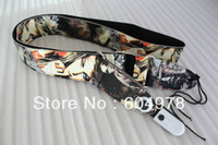 Wholesale High quality cotton guitar strap with Beauty head PU Colour Decoration