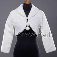 Wholesale Retail Hot Selling Winter Warm Faux Fur Bolero Bridal Wedding Wrap Shawl Jacket Coat CL2617