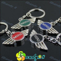 Wholesale 200pcs Mini Colors Zinc Alloy Metal D Car Key Chain Ring Chains Rings Keychain Keychains Keyring An