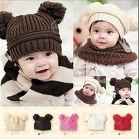 Cotton Baby Zhejiang, China (Mainland) 5 Colors Winter Protection Baby Hat Children Crochet Hats Kids Hat Free Shipping