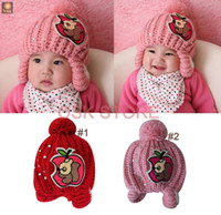 Yes apple beanie babies - NEW lovely apple design boy girl fall winter hat knit crochet beanie baby hat cap for