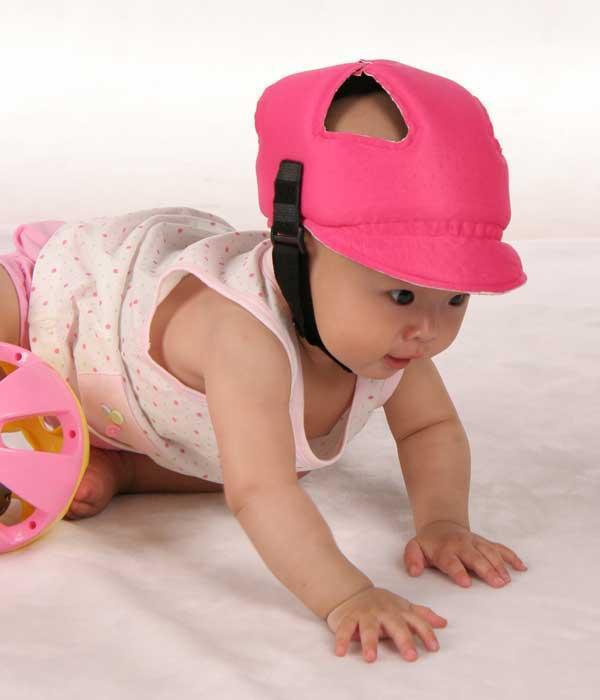 Baby Toddler Safety Helmet Headguard Cap Adjustable Hat No Bumps Kids Hat Lin