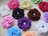 Flower Headbands Halloween New! 13 Colors 4'' Peony Children's Hair Accessories Girls Flower Clip,gerbera baby beautiful flower