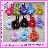 Wholesale Baby home NEW product gt baby hair accessories gt infant duckbilled clip amp lily elastic belt colo