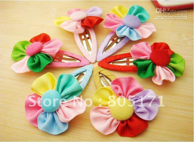 20pcs new colorful hair clips flower clips hair bows christmas bows for baby girls children hair acc
