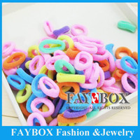 Flower 1-50piece/lot Headwear 100Pcs Colorful Kids Girls Tiny Soft Ponytail Holders Elastic Hair Bands Hair Accessories