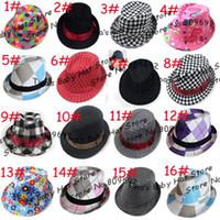 Cotton cowboy hats kids - Various Designs Children Kids Fedora Cowboy Hats Baby Spring Autumn Jazz Cap Toddler Summer Topee