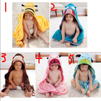 Wholesale Baby bath towels boys and girls cute cartoon bathrobe children bath towel