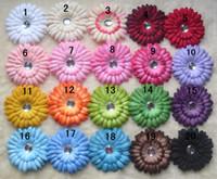 """Flower Headbands Halloween 17 Colors 4"""" Gerbera Daisy Children's Hair Accessories baby Girls Flower Clip"""