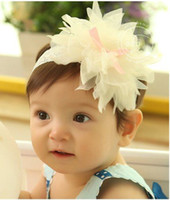 Flower baby accesory - baby girl headband Big flower petals headband infant accesory three colors