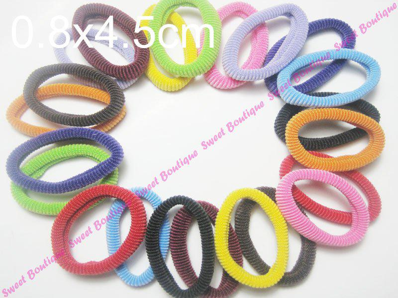 Free Sample! 48pcs Assorted Color Donut Style Hair Elastics Hair Holder Ponytail Holder Soft And B