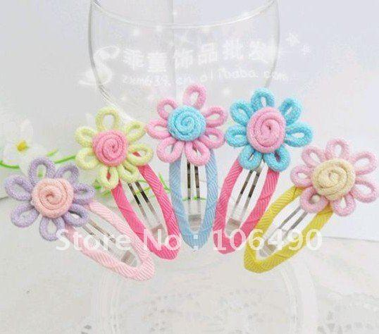 Wholesale Freesample!New Kids/Girl/Princess/Baby rose flower Hair clips/ Ribbon Hair Pins/Hair Accessories/K