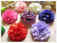 Flower Cotton 1-50piece/lot 30pcs Sample 11 Color (3.5inch Hair Flower+ Baby Alligator clips) Kids Flower Clips Fashion Headwear