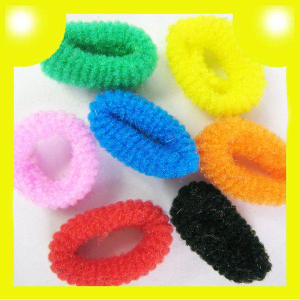 Baby girl Kids Hair accessaries Rainbow Hair bands ElasticTies Ponytail Holder Ponies Light Colour T