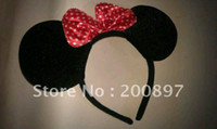 Wholesale 20 Kids Minnie mouse ears with bows costume party hairband headband