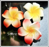 Wholesale multiple Foam Hawaiian Plumeria flower Frangipani Flower be use for headpieces earrin