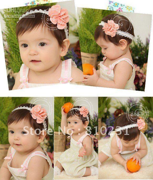 free sample 10pcs/lot fashional baby headbands 3 colors baby roses weaving hair accessory 10pcs ea