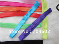 Wholesale Baby Shiny Thin Elastic Hair Bands Fashion Satin Ribbon Headband Accessories for Hair Free