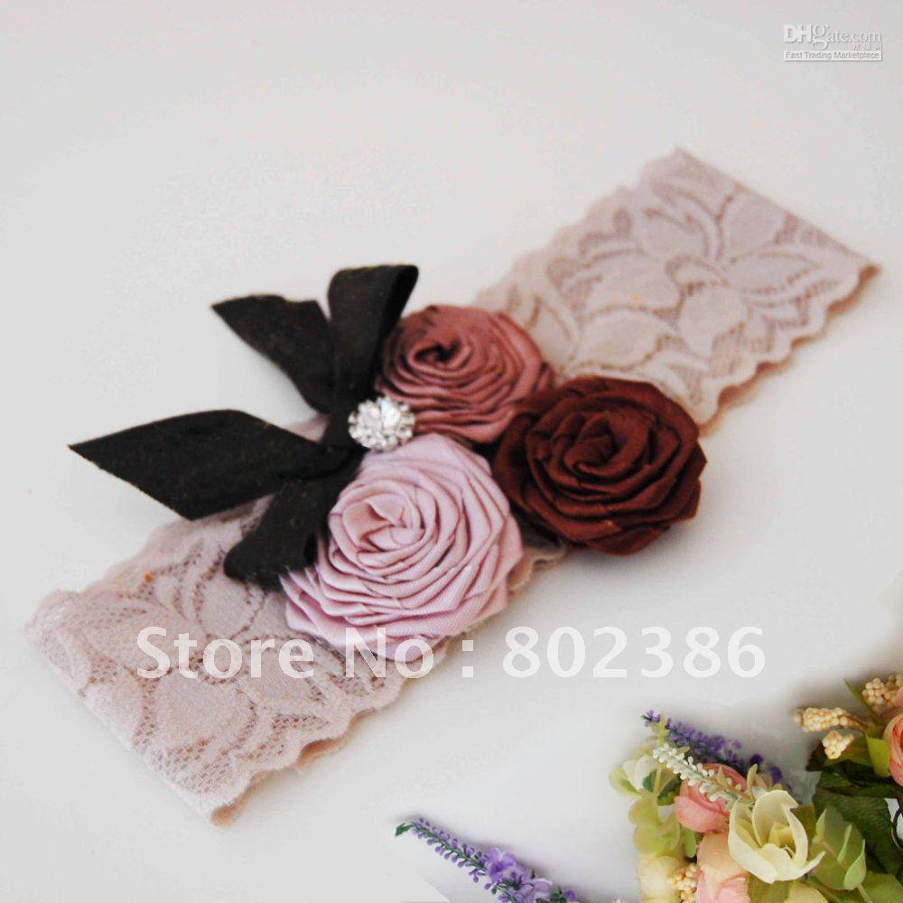 Free Sample Baby Rose Flower Lace Headband