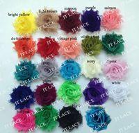 Flower shabby flower trim - quot mini shabby chiffon flower trim rosette trim yards colors for selection