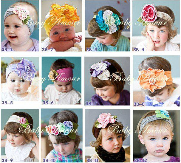 Wholesale 2016 TOP BABY girls hair ornaments babys flower Headbands Childrens Hair Accessories 0502 B wss