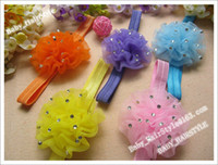8 inch crochet headbands - 240pcs Color inch Handmade Hair Flower inch Strotch Hair Head band Baby Headbands Boutiqu