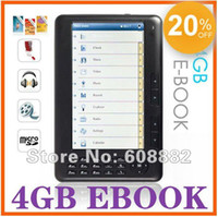 Wholesale Ebook Reader inch screen mp4 function P e book reader gift pu Leather Case GB or GB