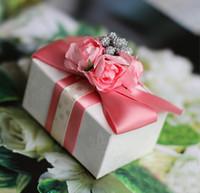 Cheap Favor Boxes wedding favor Best Purple Nonwoven Fabric candy box