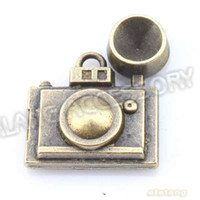 Wholesale Nice Camera Shape Alloy Pendant Antique Bronze Plated Charms Fit Jewelry Necklace