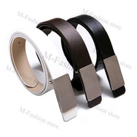 Wholesale Korean Stylish Casual Metal Buckle Belt Fashion new Men s Faux Leather