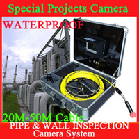 Wholesale Freeshipping for m cable waterproof Pipe Wall Sewer Inspection Color LED Camera System PIPE INSPECTION SYSTEm with DVR with battery