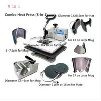 Wholesale Combo heat press machine in for mug cap plate T shirt printing freeshipping via DHL