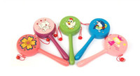 Wooden baby drum toys - Nice Baby Rattle Drum Hot Selling Cute Cartoon Pattern Wooden Classic Baby Toys Shaking Drum