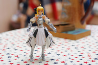 Wholesale PS2 Game Fate unlimited codes Saber Lily PVC Figure for new year gift
