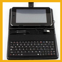 Wholesale universal USB keyboard leather case stand for Inch VIA A10 A13 Q88 epad tablet pc MID