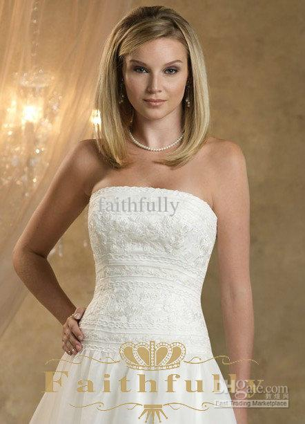 Bride Dresses Pictures Show Pictures of Line Lace Bodice Wedding