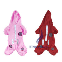 Wholesale New Beautiful pet dog Clothes apparel Hoodie dog Raincoat S M L XL Colors