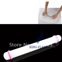 Wholesale New quot Rolled Fondant Dough With Rings Glide Rolling Pin Baking Tool