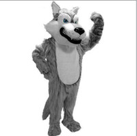 Wholesale 2012 new Grey Wolf Mascot costume Christmas Halloween Plush Size Custom