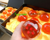 Wholesale 7 cm Free ship Retail animation dragonBall stars crystal ball set of new in box dragon ball