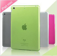 Wholesale Cheap Colors Silicon Soft Protective Case Transparent TPU Glossy Cover Shell for Apple iPad Mini