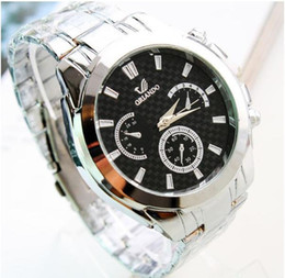 new Black and white quartz steel belt Man watches Hot sales business fashion gift wrist watch Cheap