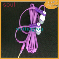 100pcs lot Free shipping new arrival soul in- ear Headphone w...