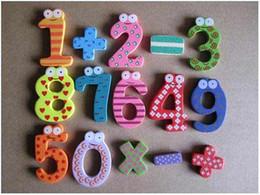 Детские творческие подарки игрушки деревянные магнитные наклейки цифровые деревянные магниты на холодильник V7160