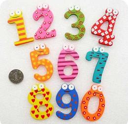 Магнит на холодильник малышей детские игрушки Письмо разноцветные цифровых ребенка Форма обучения деревянные Магнитные