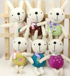 """Rabbit Plush keychain Rabbits plush doll rabbit keyrings key ring metoo keychain 5""""  12CM Xmas"""