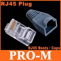 Wholesale 2 Units RJ45 Connectors Modular Plugs Boots Caps set