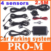 Wholesale 4Pcs Car Parking Reverse Backup Radar Sound Alert Sensors dropshipping
